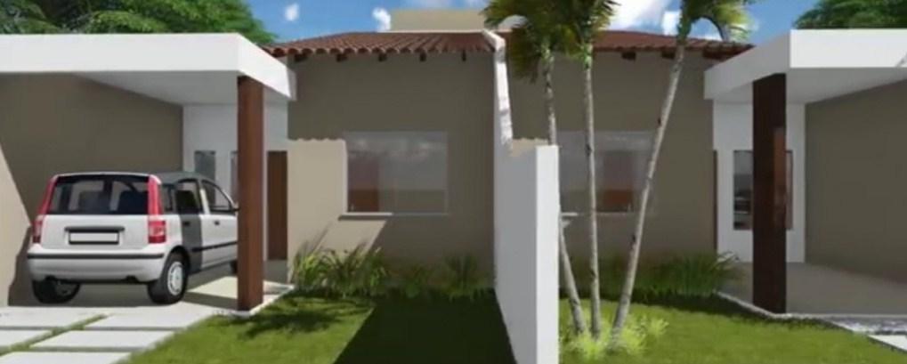 Plano de casa pareada