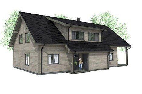 Plano de casa prefabricada de dos pisos