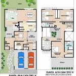Plano de duplex moderno grande