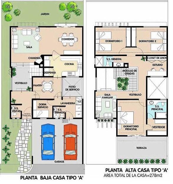 Plano de duplex planos de casas modernas - Distribuciones de casas modernas ...