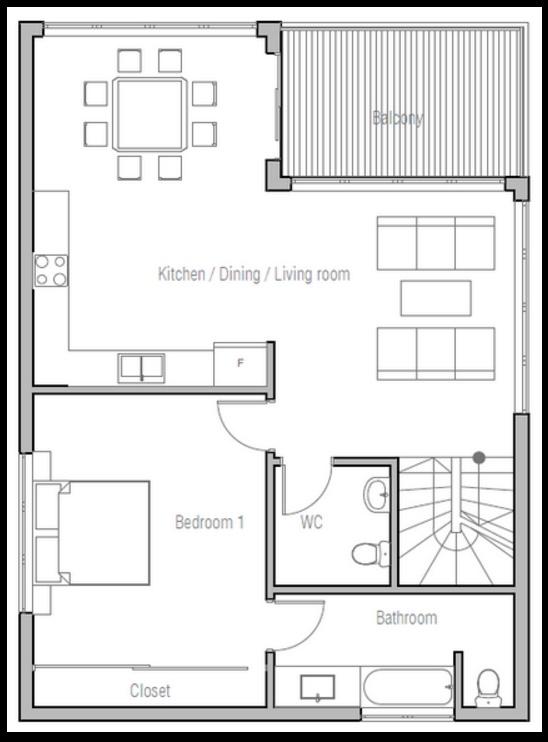 Plano de casa de 3 pisos y 210 metros for Planos de viviendas de un piso