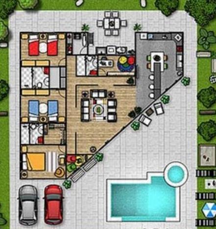 Plano de casa quinta moderna planos de casas modernas for Plano de casa quinta moderna