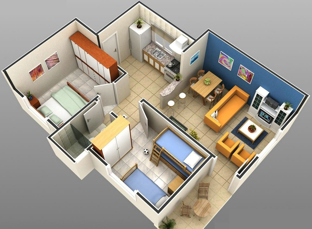 Planos de casa modernas Planos interiores de casas modernas