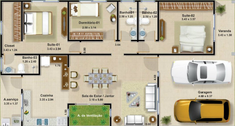 planos de casas funcionales