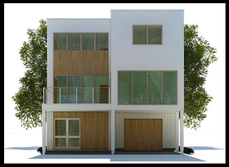planos de casas modernas 3 pisos