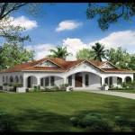Plano de casa con estilo español