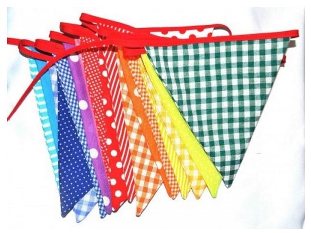 triangulos de tela para decorar