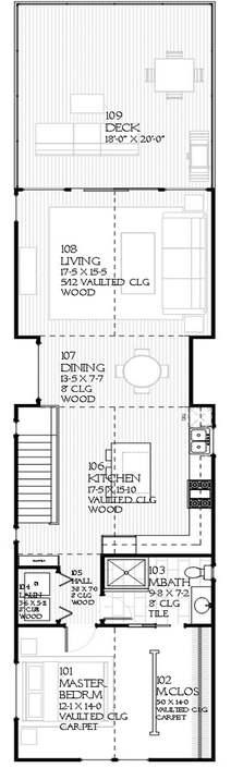 Imagenes de planos de viviendas angosto