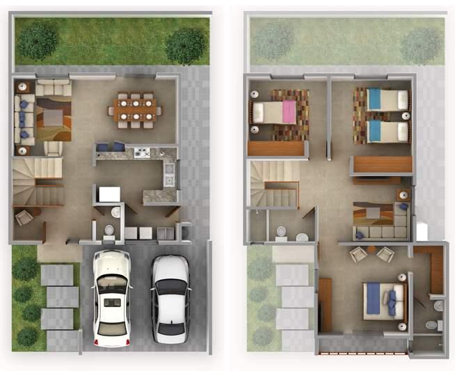 Imagenes de casas planos de casas modernas for Planos de viviendas modernas