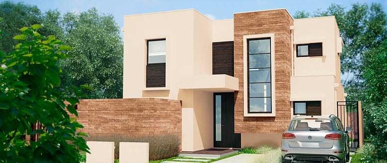 Plano de casa con 3 dormitorios en la planta alta for Casa moderna 3 habitaciones