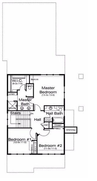 Plano de casa con entradas por ambos lados