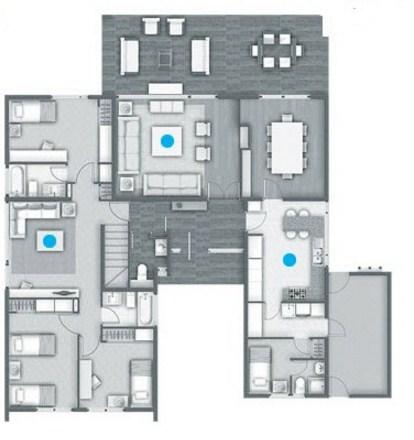 Plano de casa con quincho