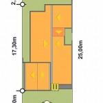 Plano de casa para terreno de 10 x 25 m