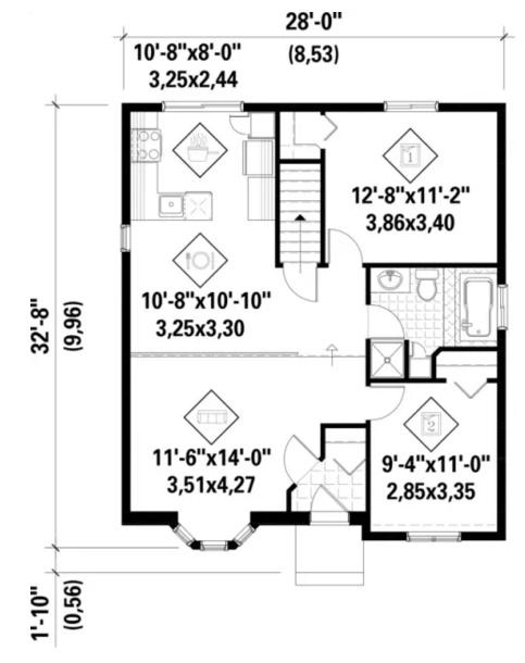 Plano de casa con medidas planos de casas modernas for Planos de casas con medidas