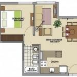Plano de casa de 25 metros cuadrados
