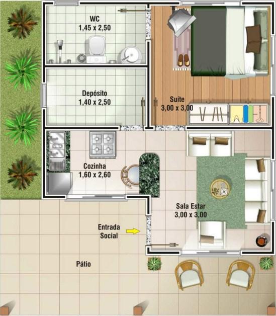planos de casas de dos pisos de 60 m2