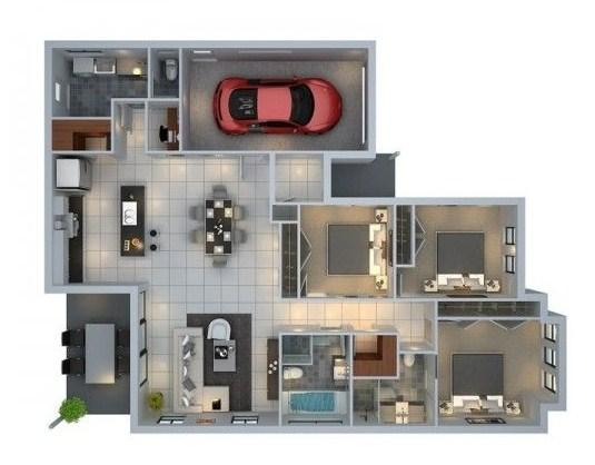 Plano de casa en 3d for Casas 3d