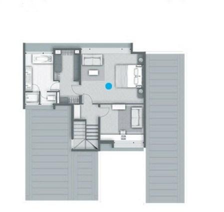 Plano de casa grande con quincho