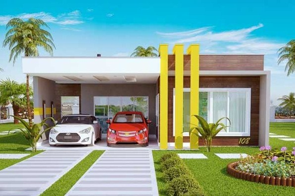 Plano de casa moderna de 10 x 25 m