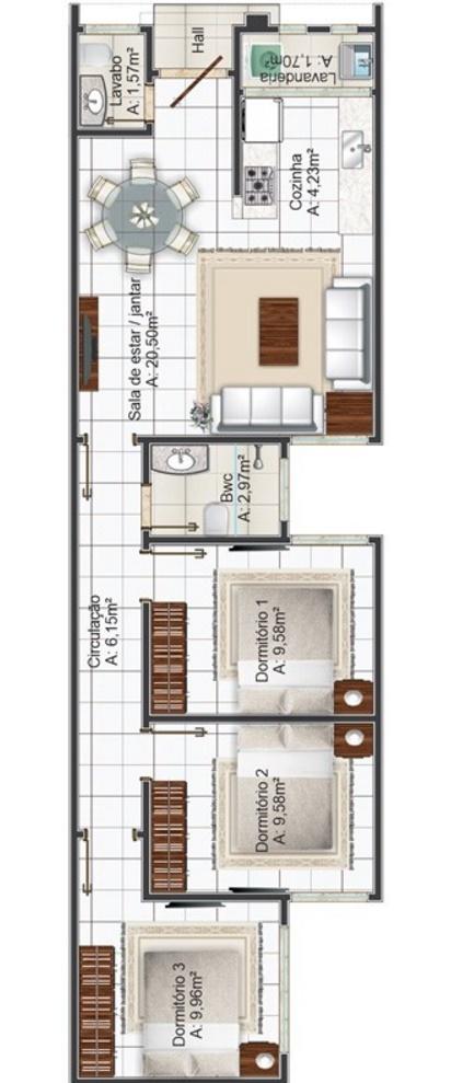 Plano de casa para terreno angosto planos de casas modernas - Casas estrechas y largas ...