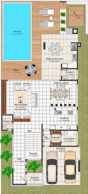Plano de casa residencial gratis