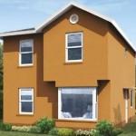 Plano de duplex de tres dormitorios