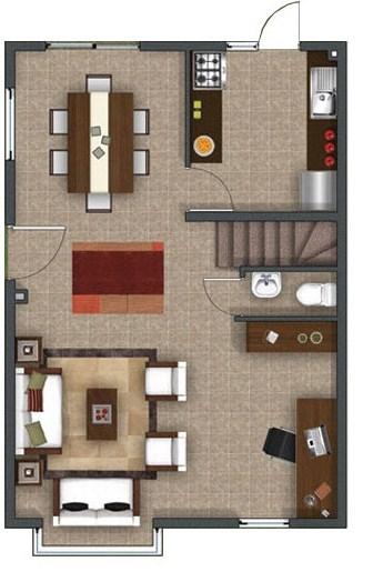 Plano de duplex planos de casas modernas for Planos de departamentos 3 dormitorios