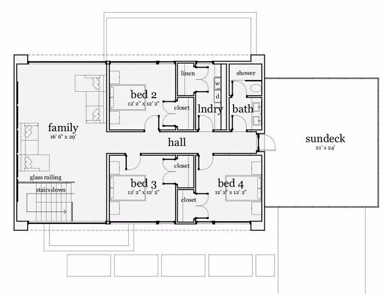Terraza planos de casas modernas for Planos de viviendas modernas