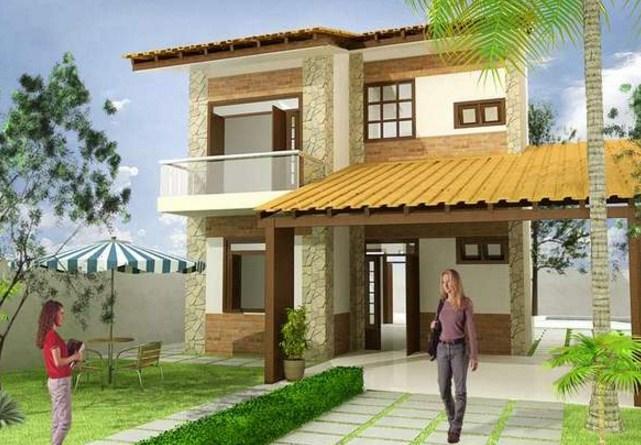Plano de vivienda de dos plantas for Planos y fachadas de casas pequenas de dos plantas