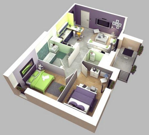 Plano de vivienda multifamiliar