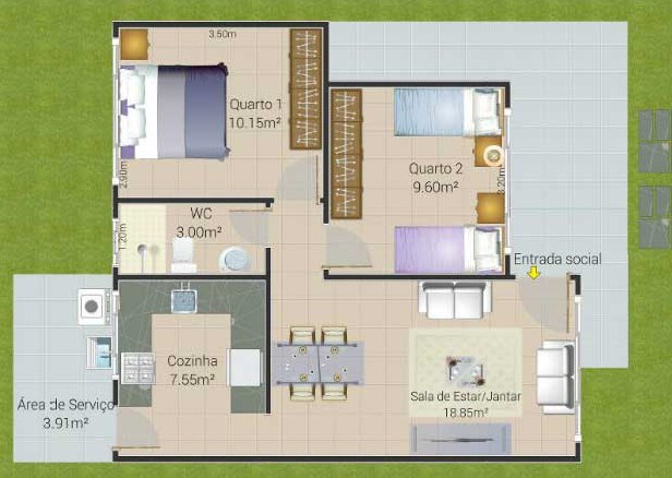 Plano de vivienda peque a for Viviendas pequenas planos