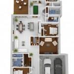 Plano de viviendas familiares