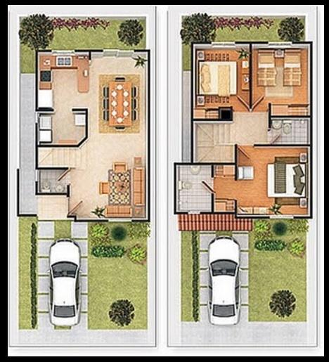 Planos de casas de dos plantas planos de casas modernas for Plantas de viviendas modernas
