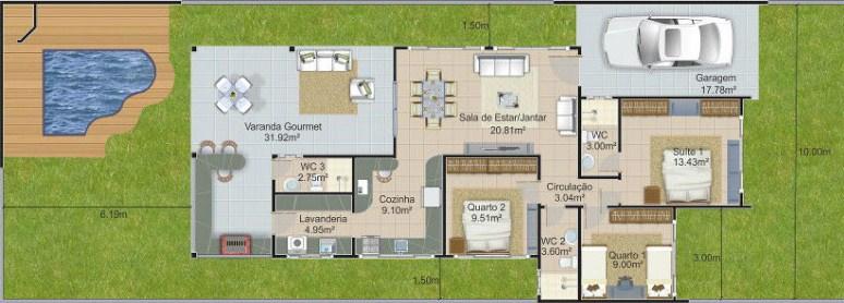Planos de viviendas gratis de 3 dormitorios