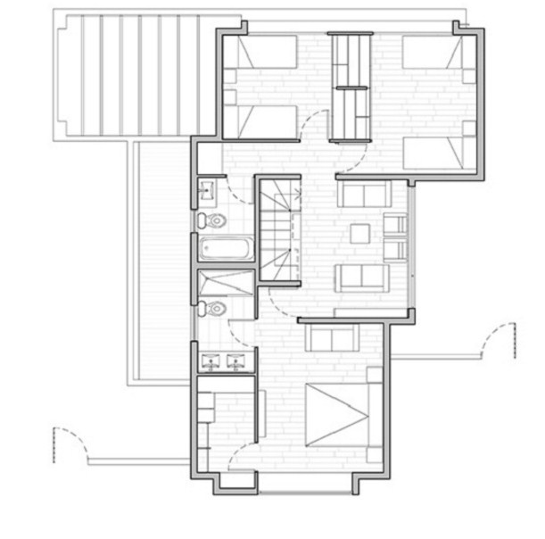 Planos de viviendas modernas de 3 dormitorios