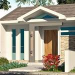 Plano de casa moderna y angosta