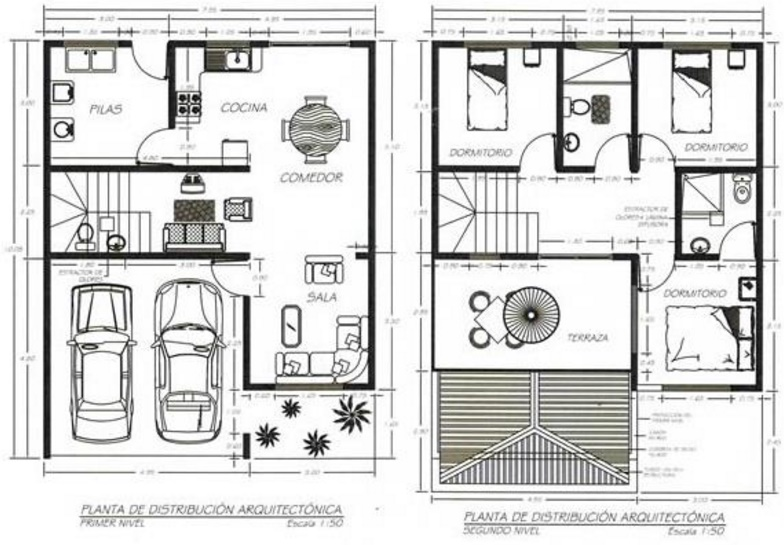 planos de casas de dos plantas planos de casas modernas