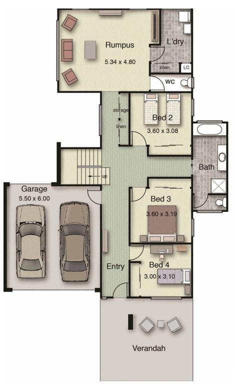 Casa con 2 pisos