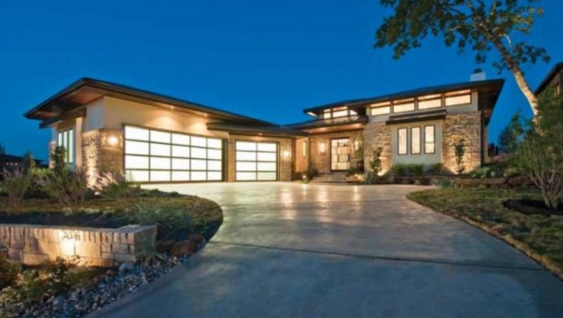Casa moderna de lujo - Fotos de casas en forma de l ...
