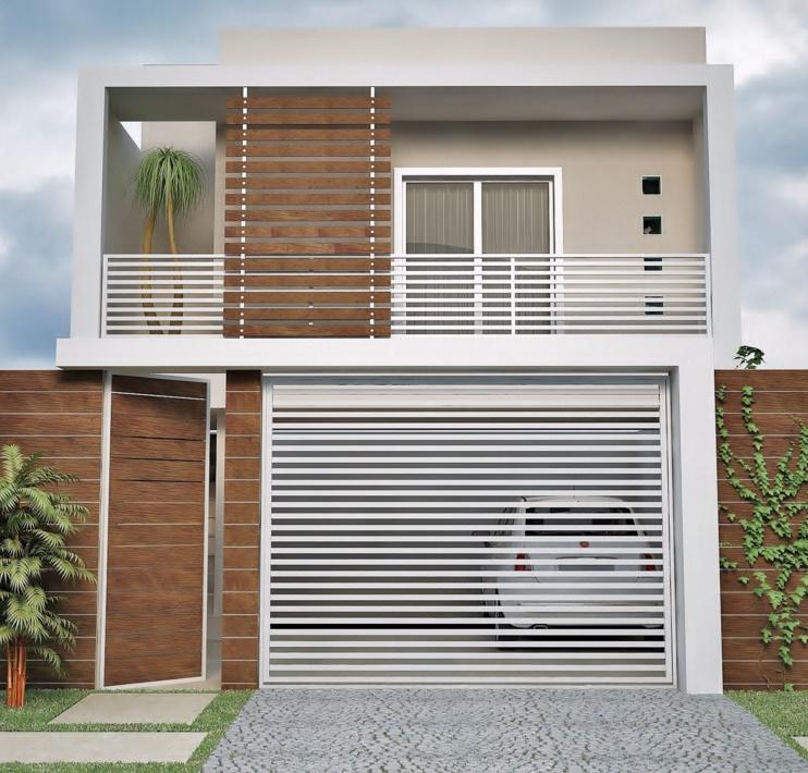 Fachadas de duplex con diferentes estilos
