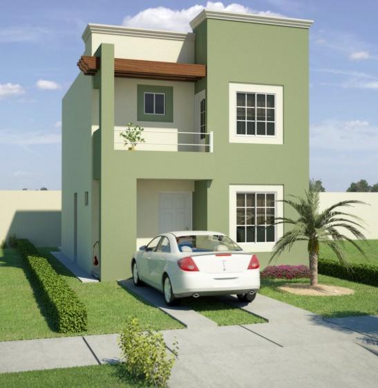 Fachadas de duplex for Colores para pintar fachadas de casas