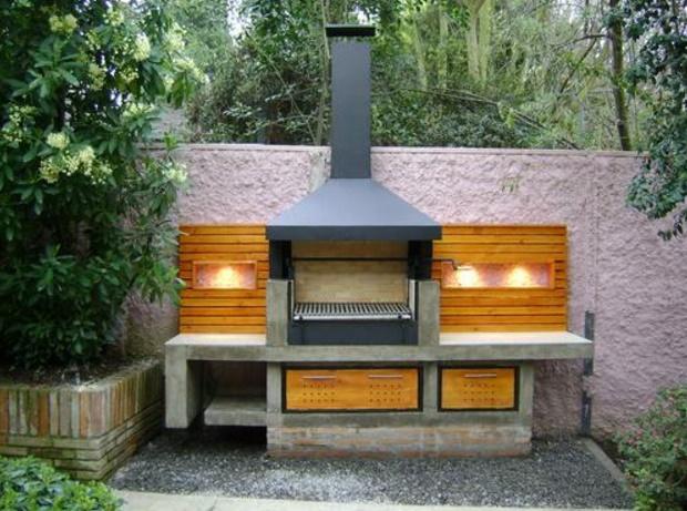 Imagenes de asadores planos de casas modernas for Asadores para carne jardin