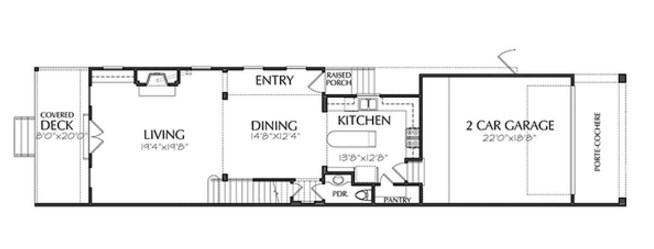 planos de casas modernas 6 x 20