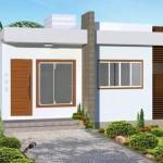 Plano de casa moderna de 70 m2