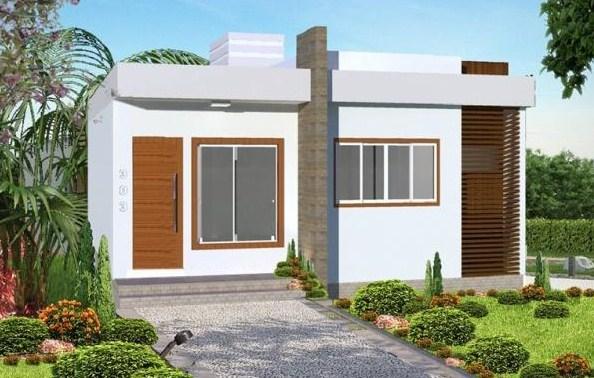 Plano de casa moderna de 70 m2 for Casa minimalista 80 metros