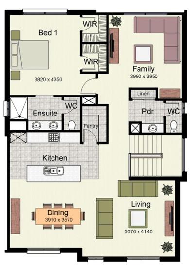 Planos de casas de 2 plantas - Plano casa una planta ...
