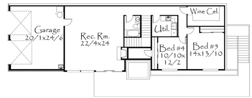5 dormitorios planos de casas modernas - Distribucion casa alargada ...