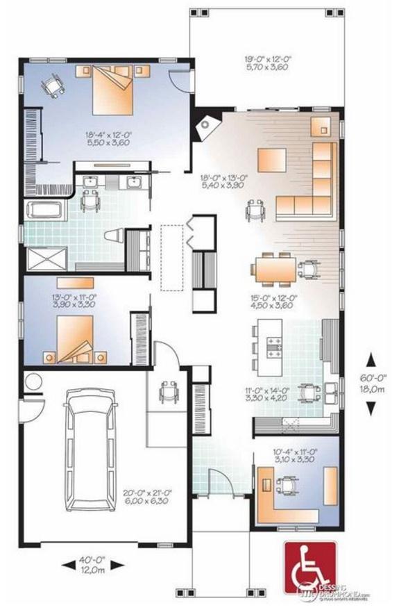 Plano de casa de 160 m2 planos de casas modernas - Planos de casas modernas de una planta ...