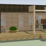 Plano de casa pequeña de 3 dormitorios