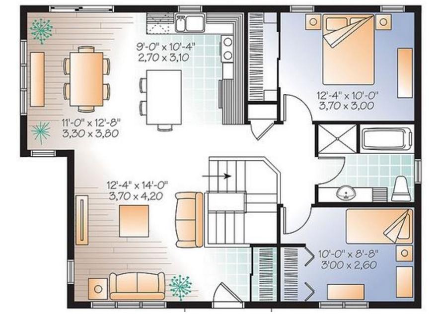 Plano de casa de 90 m2 planos de casas modernas Pisos para dormitorios